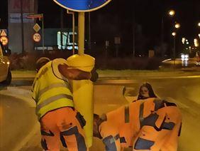 demontaż infrastruktury drogowej