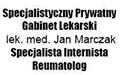 Specjalistyczny Prywatny Gabinet Lekarski Internistyczno-Reumatologiczny lek. med. Jan Marczak Internista Specjalista Reumatolog