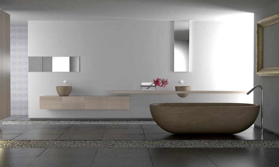 Drewniany zlew jako alternatywa dla ceramiki w łazience