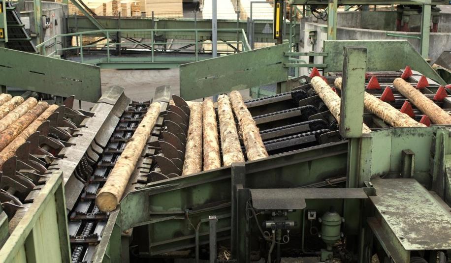 Elementy wyposażenia zakładów tartacznych