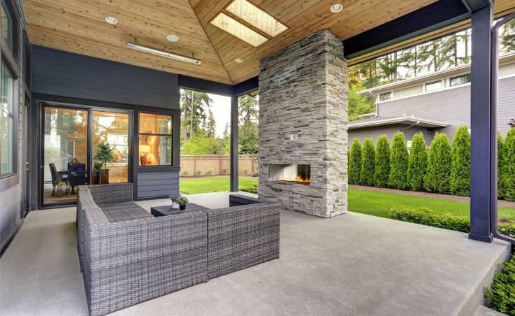 Beton jako idealny materiał na obudowę kominka