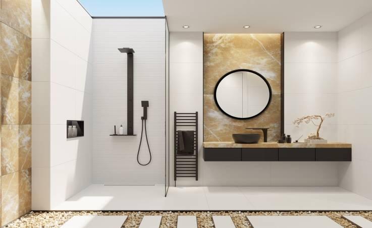 Czarna armatura – idealne dopełnienie nowoczesnej łazienki.