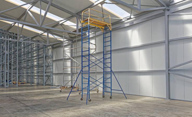 Trwałe wieże aluminiowe do prac na dużych wysokościach
