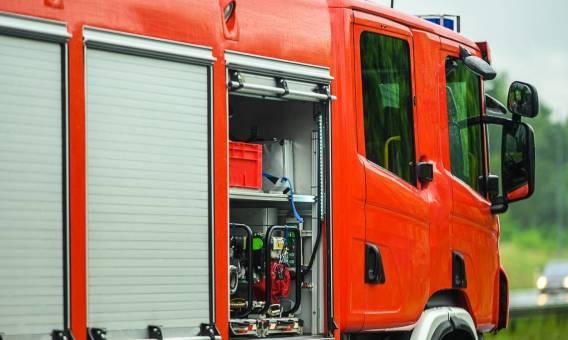 Elementy wyposażenia pojazdów strażackich