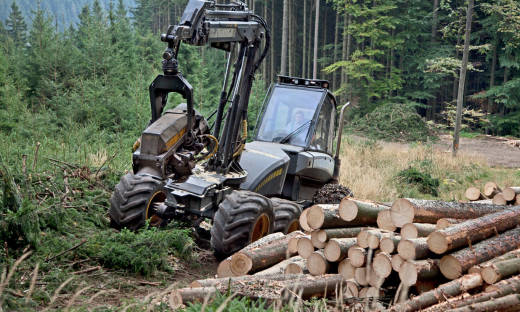 Nowoczesna technika leśna z parku maszynowego