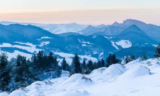 Polskie góry zimą. Zimowe atrakcje w Pieninach i okolicy